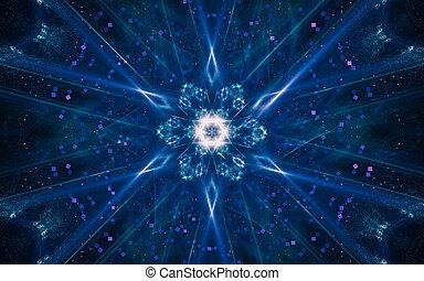 многие, иллюстрация, задний план, черный, звезда, фантастика, rays, абстрактные