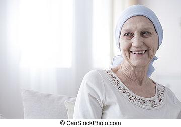 многообещающий, пациент, рак, счастливый
