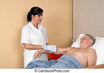 мойка, медсестра, пациент
