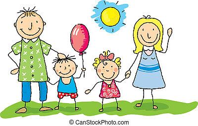 мой, семья, счастливый