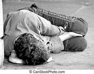 молодежь, улица, бездомный