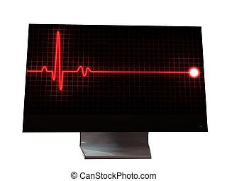 монитор, пульс, знак