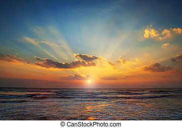 море, восход