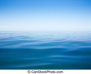 море, чисто, небо, поверхность, океан, воды, спокойный, задний план, или
