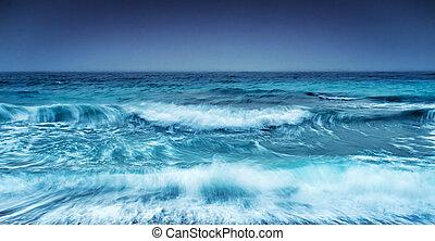 морской пейзаж, драматичный, штормовой