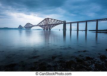 мосты, forth, шотландия, эдинбург