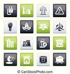 мощность, icons, электричество, энергия, цвет, задний план, над