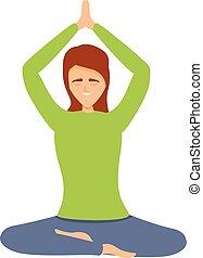 мультфильм, значок, отступление, медитация, стиль