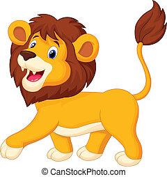 мультфильм, лев, гулять пешком