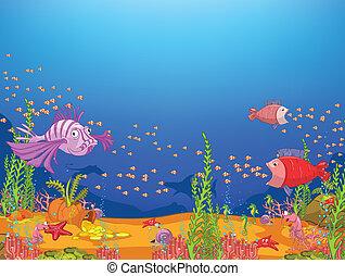 мультфильм, океан