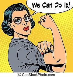 мы, женщина, мощность, это, можно, феминизм, glasses