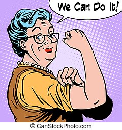 мы, женщина, старый, это, можно, бабуся, жест