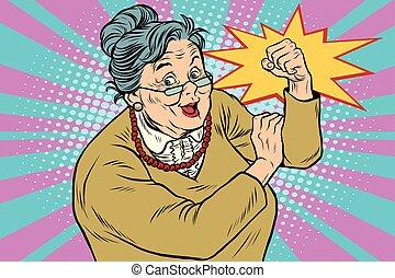 мы, старый, это, можно, бабуся, леди
