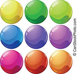 мячи, красочный