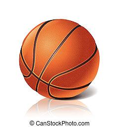 мяч, баскетбол, вектор, иллюстрация