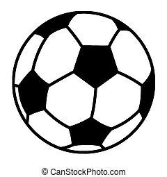 мяч, футбольный, outlined
