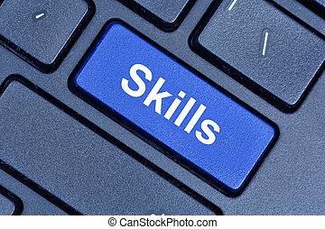 навыки, компьютер, слово, клавиатура