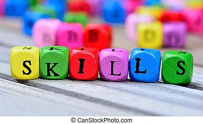 навыки, таблица, слово
