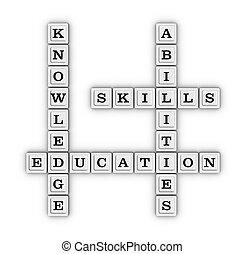 навыки, abilities, кроссворд, знание, puzzle.