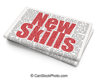 навыки, studying, задний план, газета, новый, concept: