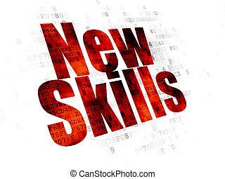 навыки, studying, задний план, цифровой, новый, concept: