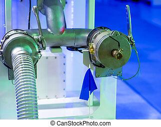 найденный, растение, промышленные, современное, трубопровод, оборудование, мощность, внутри, cables