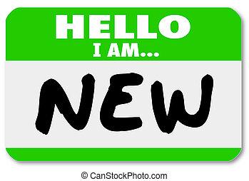 наклейка, стажер, nametag, новобранец, новый, здравствуйте