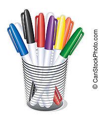 наконечник, pens, маркер, маленький
