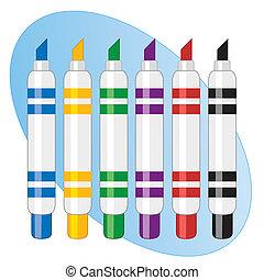 наконечник, pens, почувствовал, маркер