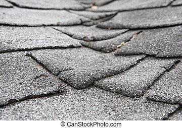 наносить ущерб, композитный, крыша, старый