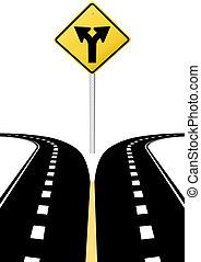 направление, решение, arrows, знак, будущее, выбор, дорога