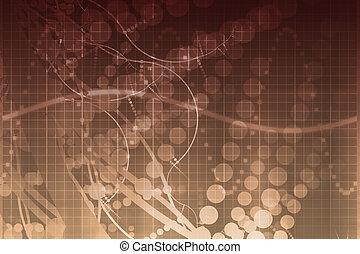 наука, медицинская, технологии, абстрактные, футуристический