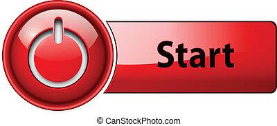начало, button., значок