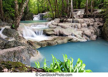 на открытом воздухе, фотография, дождь, forest., водопад, джунгли, таиланд