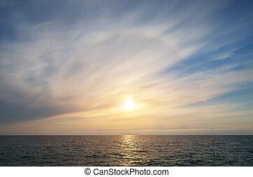 небо, задний план, sunset.