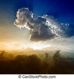 небо, красивая