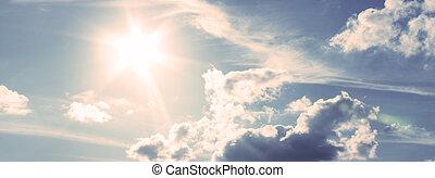 небо, синий, солнечно, в течение, день, sunlight.