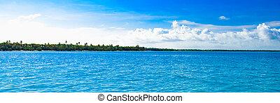 небо, clouds, пейзаж, море