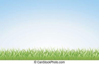 небо, (seamless), трава