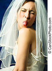 невеста, показ, капризный, язык, ее