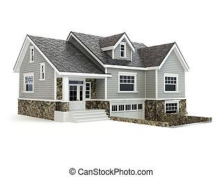недвижимость, дом, concept., isolated, white.