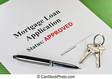 недвижимость, ипотека, заем, документ, утвержденный