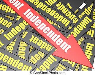 независимый, бар, стрела