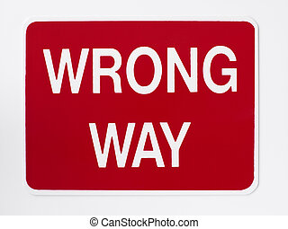 неправильно, путь, дорога, знак