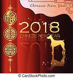 новый, абстрактные, китайский, год