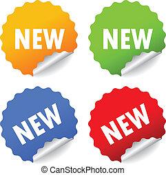 новый, вектор, stickers