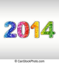 новый, год, красочный, 2014
