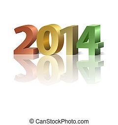 новый, год, 2014, задний план