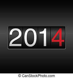 новый, год, 2014, одометр