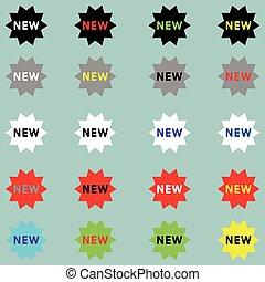 новый, другой, цвет, icon., знак